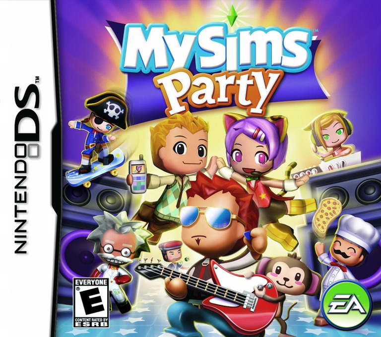 MySims - Party DS coverHQ (CMSE)