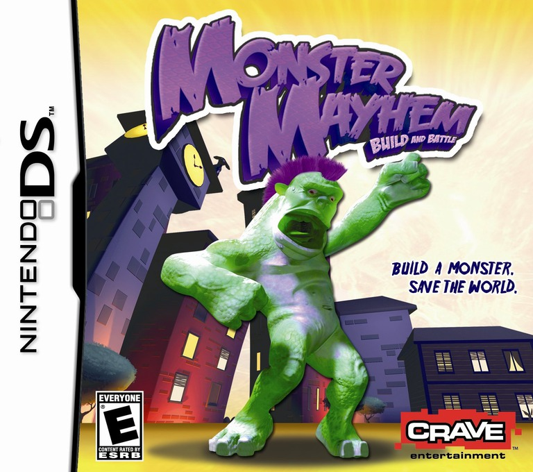 Monster Mayhem - Build and Battle DS coverHQ (CVNE)