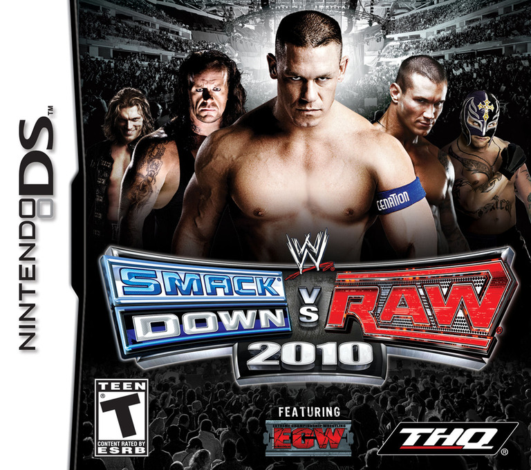 WWE SmackDown vs Raw 2010 featuring ECW DS coverHQ (CXUE)