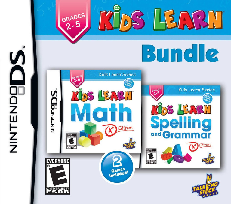 Kids Learn - Math and Spelling Bundle DS coverHQ (TKLE)