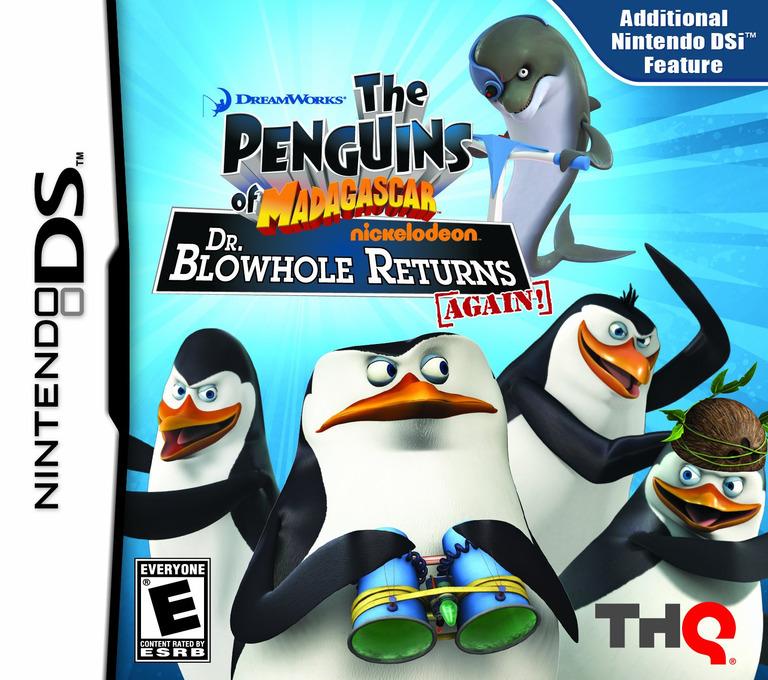 The Penguins of Madagascar - Dr. Blowhole Returns Again! DS coverHQ (VP9E)