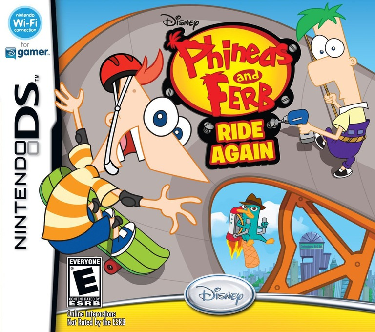 Phineas and Ferb - Ride Again DS coverHQ (VPFE)