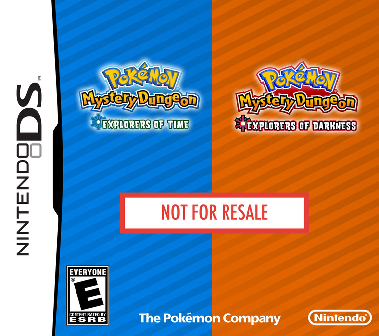 Pokémon Mystery Dungeon - Explorers of Time - Explorers of Darkness (Demo) DS coverHQ (Y4RE)