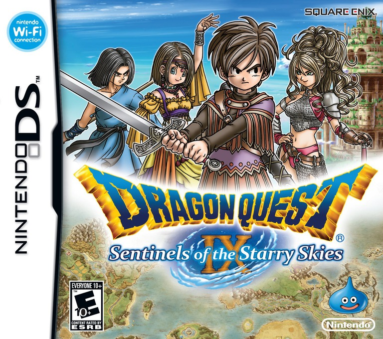 Dragon Quest IX - Sentinels of the Starry Skies DS coverHQ (Y8GE)