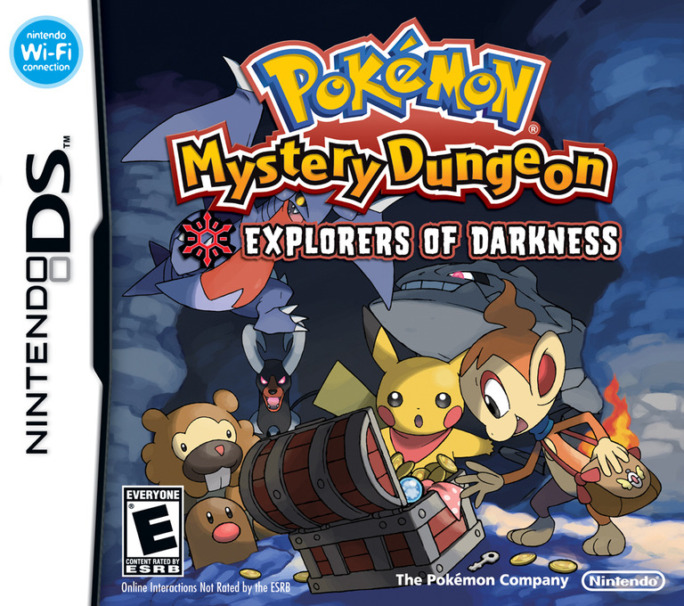 Pokémon Mystery Dungeon - Explorers of Darkness DS coverHQ (YFYE)