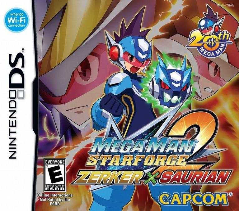 Mega Man Star Force 2 - Zerker x Saurian DS coverHQ (YRWE)