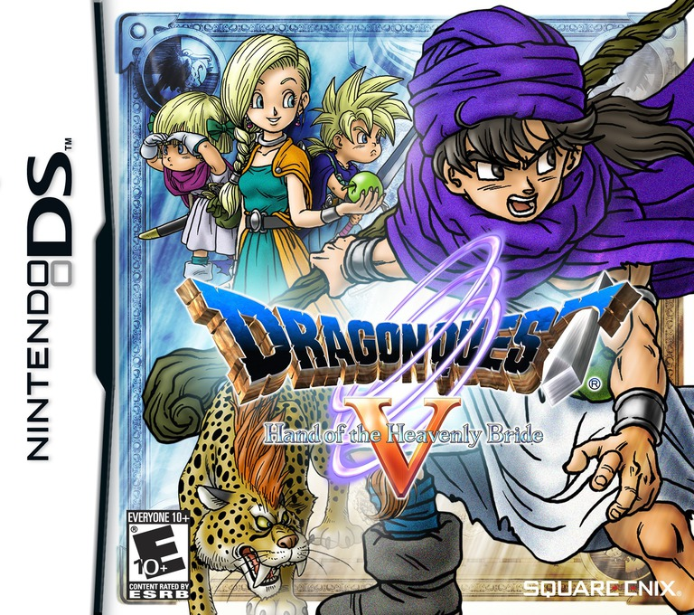 Dragon Quest V - Hand of the Heavenly Bride DS coverHQ (YV5E)