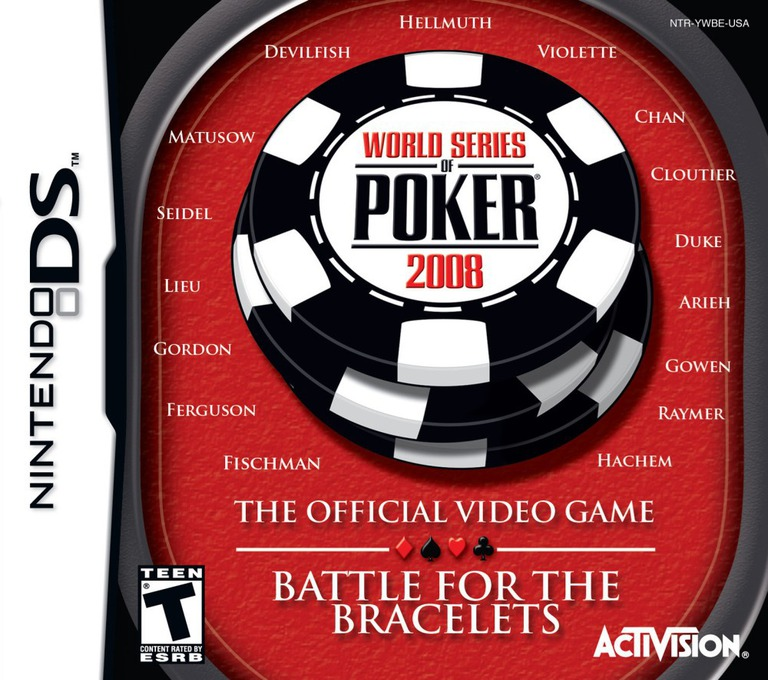 World Series of Poker 2008 - The Official Video Game - Battle for the Bracelets DS coverHQ (YWBE)