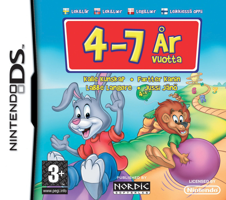 Reader Rabbit - Play & Learn - age 4-7 DS coverHQB (CR5X)