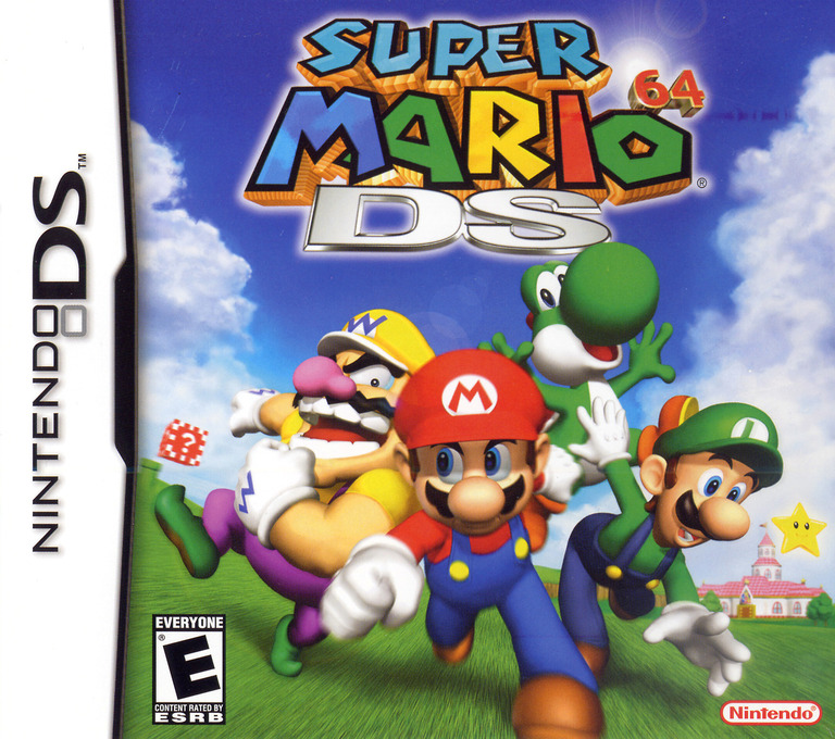 Super Mario 64 DS DS coverHQB (ASME)