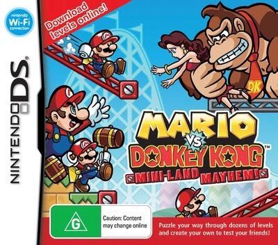 Mario vs. Donkey Kong - Mini-Land Mayhem! DS coverM (V2GV)