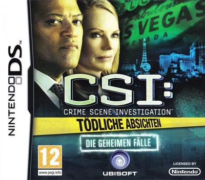 CSI - Crime Scene Investigation - Tödliche Absichten - Die Geheimen Fälle DS coverM (BCIP)