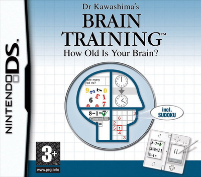 Dr Kawashima's Brain Training - How Old Is Your Brain DS coverM (ANDP)