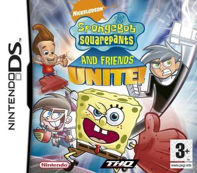 SpongeBob SquarePants and Friends Unite! DS coverM (ANUP)