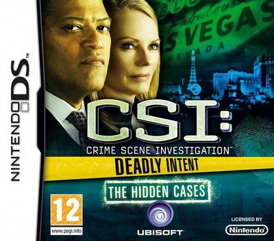 CSI - Crime Scene Investigation - Deadly Intent - The Hidden Cases DS coverM (BCIP)