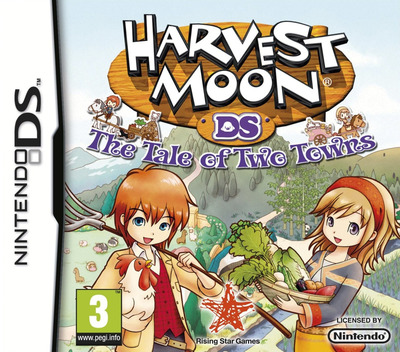 Harvest Moon - The Tale of Two Towns DS coverM (BKUP)