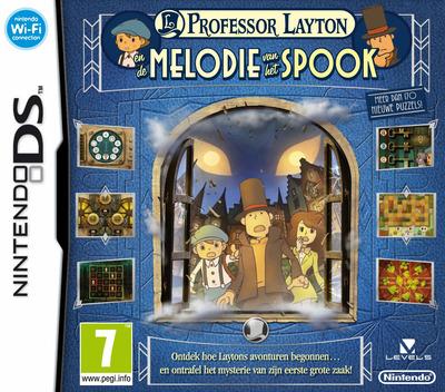 Professor Layton en de Melodie van het Spook DS coverM (BLFH)