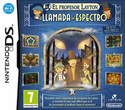 El Profesor Layton y la Llamada del Espectro DS coverM (BLFS)