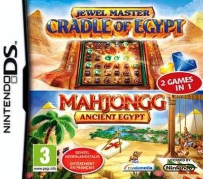 2 Games in 1 - Jewel Master - Cradle of Egypt + Mahjongg - Ancient Egypt DS coverM (BXJP)