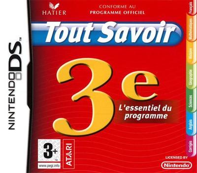 Tout Savoir 3e - L'Essentiel du Programme DS coverM (C37F)