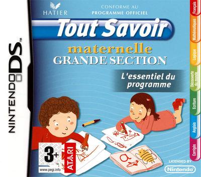Tout Savoir Maternelle Grande Section - L'Essentiel du Programme DS coverM (C5XF)