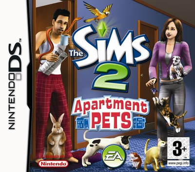 The Sims 2 - Apartment Pets DS coverM (CAPP)
