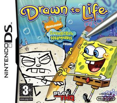 Drawn to Life - SpongeBob SquarePants Edition DS coverM (CDLP)