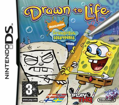 Drawn to Life - SpongeBob SquarePants Edition DS coverM (CDLX)