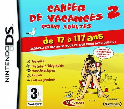 Cahier de Vacances pour Adultes 2 DS coverM (CVUF)