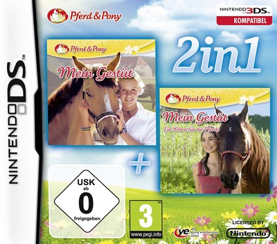 2 in 1 - My Riding Stables + My Riding Stables - Life with Horses DS coverM (TMGP)