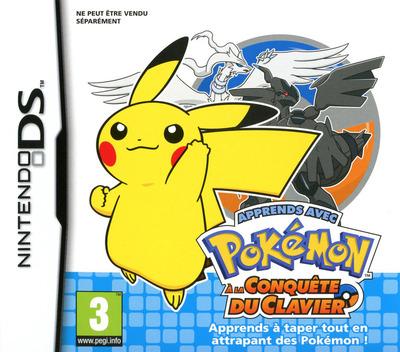 Apprends avec Pokémon - A la Conquete du Clavier DS coverM (UZPF)