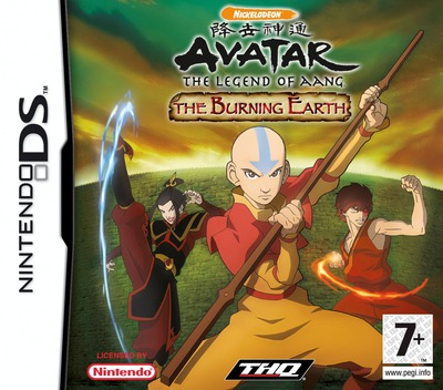Avatar - The Legend of Aang - The Burning Earth DS coverM (YAVX)