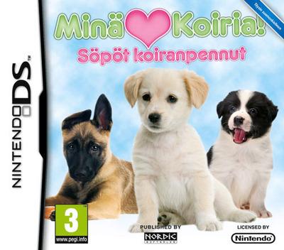 Minä rakastan koiria! Söpöt koiranpennut DS coverM (BIIX)