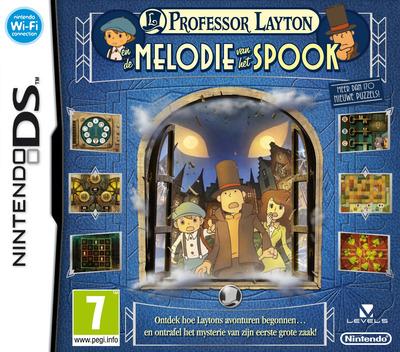 Professor Layton En de Melodie van het Spook DS coverM (BLFP)