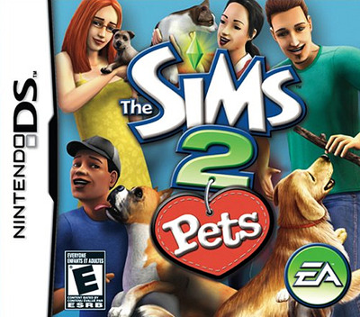 The Sims 2 - Pets DS coverM (A4OE)