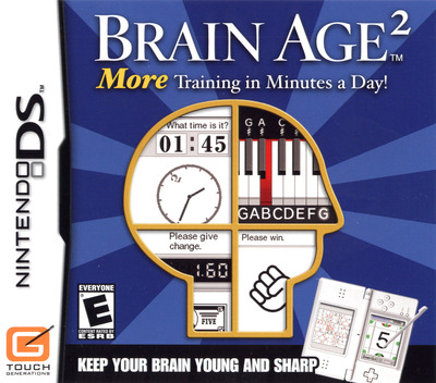 Brain Age 2 - More Training in Minutes a Day! DS coverM (ANME)