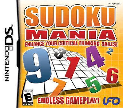 Sudoku Mania - Enhance Your Critical Thinking Skills! DS coverM (AQME)