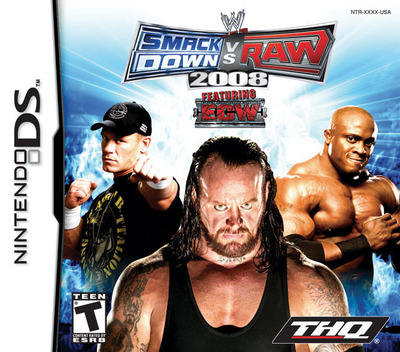 WWE SmackDown vs Raw 2008 featuring ECW DS coverM (AW8E)