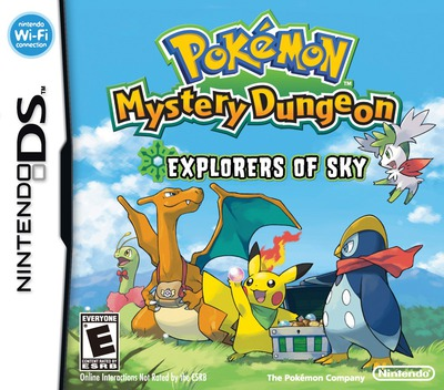 Pokémon Mystery Dungeon - Explorers of Sky DS coverM (C2SE)