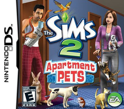 The Sims 2 - Apartment Pets DS coverM (CAPE)