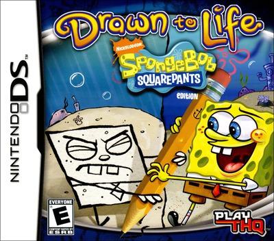 Drawn to Life - SpongeBob SquarePants Edition DS coverM (CDLE)