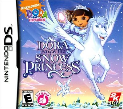 Dora the Explorer - Dora Saves the Snow Princess DS coverM (CDRE)