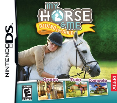 My Horse & Me - Riding for Gold DS coverM (CXHE)