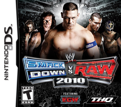 WWE SmackDown vs Raw 2010 featuring ECW DS coverM (CXUE)