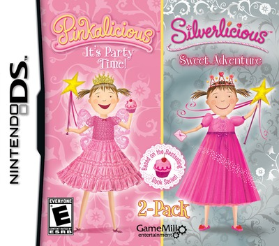 2-Pack - Pinkalicious - It's Party Time! & Silverlicious - Sweet Adventure DS coverM (TLPE)