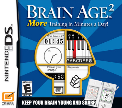 Brain Age 2 - More Training in Minutes a Day! (Demo) DS coverM (Y4GE)