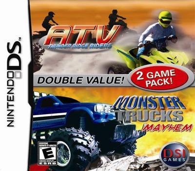 2 Game Pack! - Monster Trucks Mayhem + ATV - Thunder Ridge Riders DS coverM (YAME)