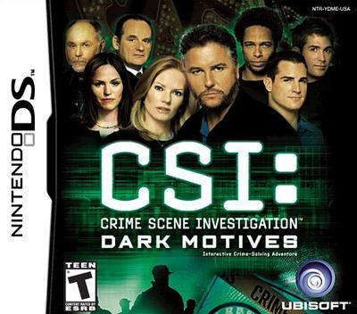 CSI - Crime Scene Investigation - Dark Motives DS coverM (YDME)