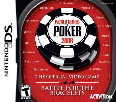 World Series of Poker 2008 - The Official Video Game - Battle for the Bracelets DS coverM (YWBE)