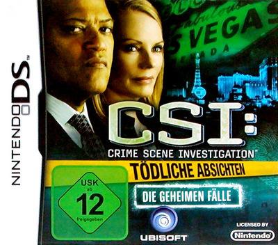 CSI - Crime Scene Investigation - Tödliche Absichten - Die Geheimen Fälle DS coverMB (BCIP)